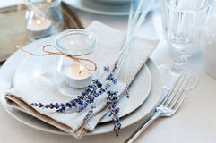 Provence style table setting Stock Photo