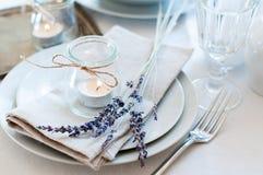 Provence style table setting stock photo