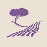 Provence. Stylized illustration showing the rural landscape of Provence Royalty Free Stock Photography