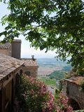 Provence view with oleander Royalty Free Stock Photos
