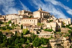 Provence village Gordes scenic overlook Royalty Free Stock Photography