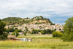 Provence village Gordes scenic overlook Stock Photo