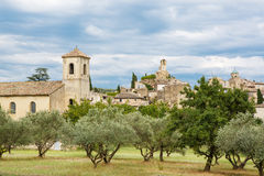 Provence village Gordes scenic overlook Stock Photography