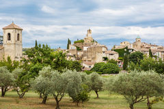 Provence village Gordes scenic overlook Stock Images