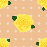 Provence yellow roses seamless pattern Stock Photo