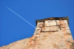 provence zegarowy wierza Roussillon zdjęcia royalty free