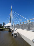 Provencher Bridge 2. Provencher Bridge, in Winnipeg, Manitoba, Canada royalty free stock photo