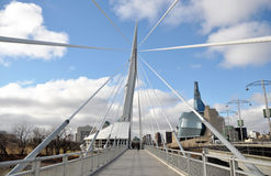 The Provencher Bridge Royalty Free Stock Photo