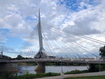 The Provencher Bridge Royalty Free Stock Photography