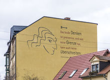 Proverb of Friedrich Schiller at a house wall Royalty Free Stock Image