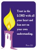 Proverbs 3:5 - Holy Bible. Popular verses of the Holy Bible to remember the words of the Lord Vector Illustration