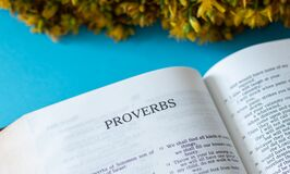Proverbs Book from the Christian Holy Bible inspired by God and Jesus Christ