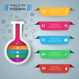 Provetta - affare infographic Cinque oggetti di colore royalty illustrazione gratis