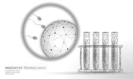Provetta di fecondazione in vitro in basso poli Gravidanza moderna riproduttiva di sanità della medicina di tecnologia sana illustrazione di stock