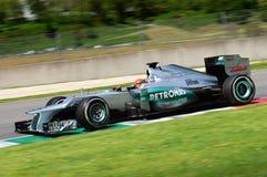Provi F1 Mugello Michael Schumacher anno 2012 Fotografia Stock