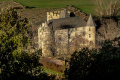 Provicial castle in Provence, France. Shot in a quiet morning just about when sun was about to go up Stock Photography