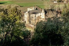 Provicial castle in Provence, France. Shot in a quiet morning just about when sun was about to go up Royalty Free Stock Image