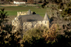 Provicial slott i Provence, Frankrike Royaltyfri Fotografi