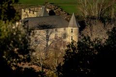 Provicial slott i Provence, Frankrike Arkivbilder