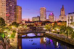 Providência, Rhode Island Cityscape Fotos de Stock Royalty Free