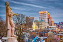 Providência, Rhode Island Skyline Fotos de Stock