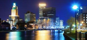 Providência, Rhode Island Skyline Imagem de Stock Royalty Free