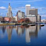 Providência, Rhode Island Skyline Fotos de Stock Royalty Free
