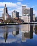 Providência, Rhode Island Skyline Imagem de Stock