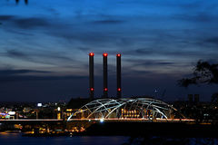 Providência RI da ponte da EU-MANEIRA foto de stock royalty free