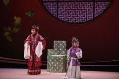 "Provide an explanation Hong Niang-Kunqu Opera ""the West Chamber"". In May 17, 2015, the Suzhou Kunqu opera classic Kunqu Opera Xixiangji staged in royalty free stock images"