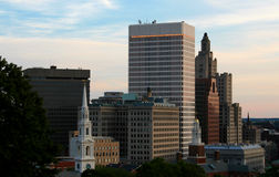 Providence. Rhode Island Skyline at dusk Royalty Free Stock Images