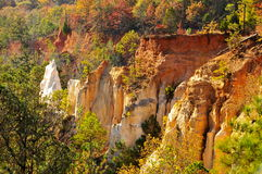 Providence Canyon Colored rocks Royalty Free Stock Photos