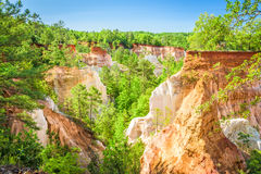 Providence Canyon in Georgia stock image