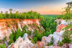 Providence Canyon State Park Royalty Free Stock Images