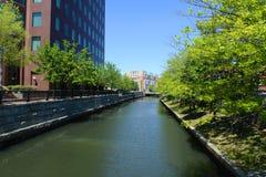 Providence-Fluss, Providence, RI, USA Lizenzfreie Stockfotografie