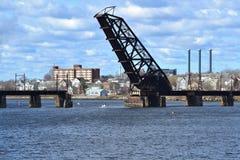 Providence old drawbridge royalty free stock photo