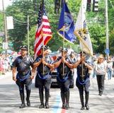 Providence-Polizei-Ehrenabdeckung Stockbild