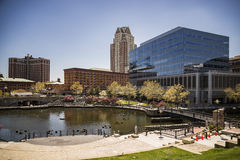 Providence, Rhode Island. City skyline in New England region of the United States Royalty Free Stock Photos