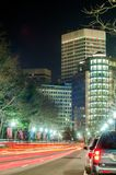 Providence rhode island city streets at night Royalty Free Stock Photo