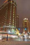 Providence, Rhode Island downtown city at night. Stock Photo