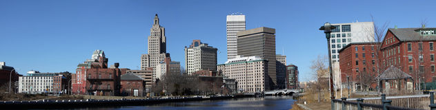 Providence Rhode Island panorama. A Panorma of the Providence Rhode Island City Royalty Free Stock Images