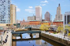 Providence, Rhode Island Skyline Royalty Free Stock Images