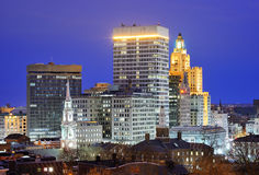 Providence, Rhode Island Skyline Royalty Free Stock Photos
