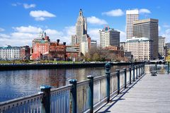 Providence, Rhode Island Skyline. Providence, Rhode Island was one of the first cities established in the United States Royalty Free Stock Photos