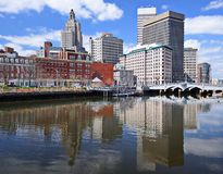 Providence, Rhode Island Skyline Royalty Free Stock Photography