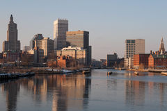 Providence, Rhode Island Skyline in winter Royalty Free Stock Images