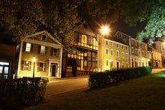 Providence Rhode Island Street nachts lizenzfreies stockbild