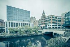 Providence ri city skyline autumn season royalty free stock photo