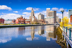 Providence River Skyline Royalty Free Stock Photos