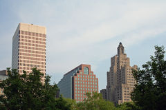 Providence Skyline. Providence Buildings in Rhode Island royalty free stock photography